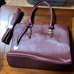 Burgundy Call It Spring Purse